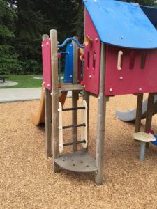 92nd Street Park Mukilteo toddler ladder